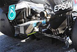 Diffuseur de la Mercedes AMG F1 W09