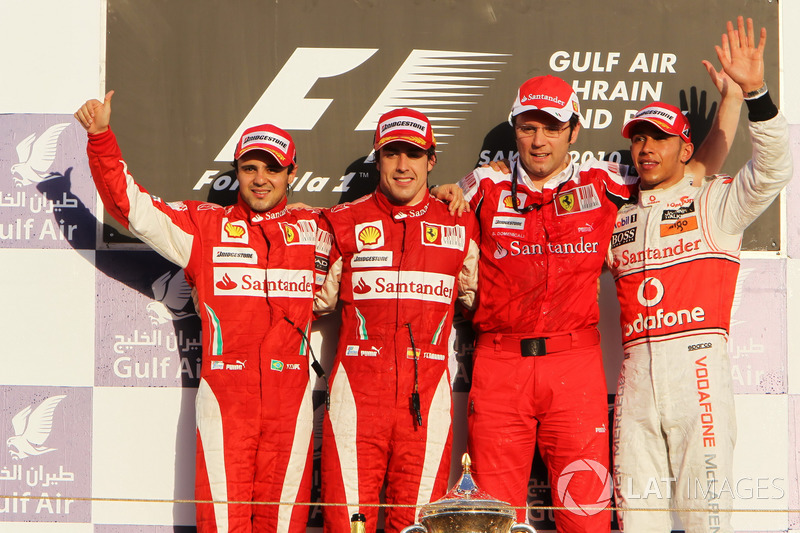 Podio: 1. Fernando Alonso, 2. Felipe Massa, 3. Lewis Hamilton