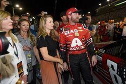 Dale Earnhardt Jr., Hendrick Motorsports Chevrolet, wife Amy Reimann Earnhardt