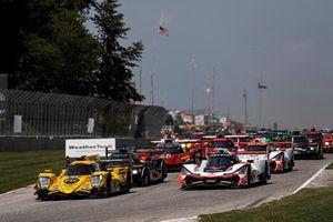 #85 JDC/Miller Motorsports ORECA 07, P - Simon Trummer, Robert Alon, #7 Acura Team Penske Acura DPi, P - Helio Castroneves, Ricky Taylor, start
