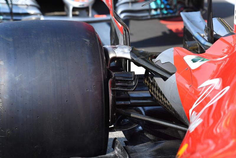 Ferrari SF71H rear suspension detail