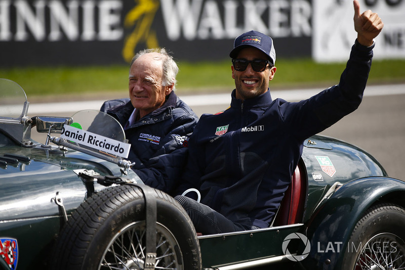 Daniel Ricciardo, Red Bull Racing, on the drivers' parade