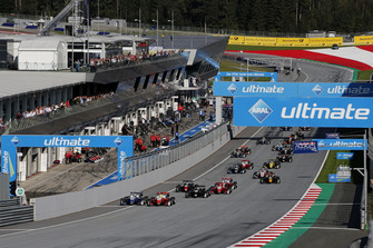 Start der Formel-3-EM 2018 in Spielberg: Robert Shwartzman, PREMA Theodore Racing Dallara F317 - Mercedes-Benz, Mick Schumacher, PREMA Theodore Racing Dallara F317 - Mercedes-Benz