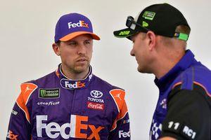 Denny Hamlin, Joe Gibbs Racing, Toyota Camry FedEx Ground e Michael Wheeler