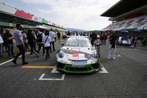 La Porsche 911 GT3 Cup di Enrico Fulgenzi, GDL Racing, in griglia di partenza