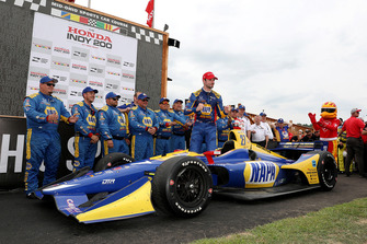 Racewinnaar Alexander Rossi, Andretti Autosport Honda