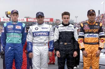 F1 Rookies 2001: Kimi Räikkönen, Sauber; Juan Pablo Montoya, Williams; Fernando Alonso, Minardi; Enrique Bernoldi, Arrows
