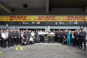 The Mercedes team send a get well soon message to Niki Lauda, Non-Executive Chairman, Mercedes AMG