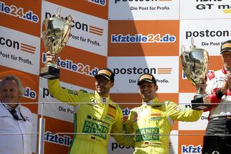 Podium: second place #47 HTP Motorsport Mercedes-AMG GT3: Maximilian Götz, Markus Pommer