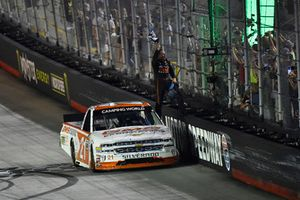 Johnny Sauter, GMS Racing, Chevrolet Silverado GMS Fabrication celebrates his win