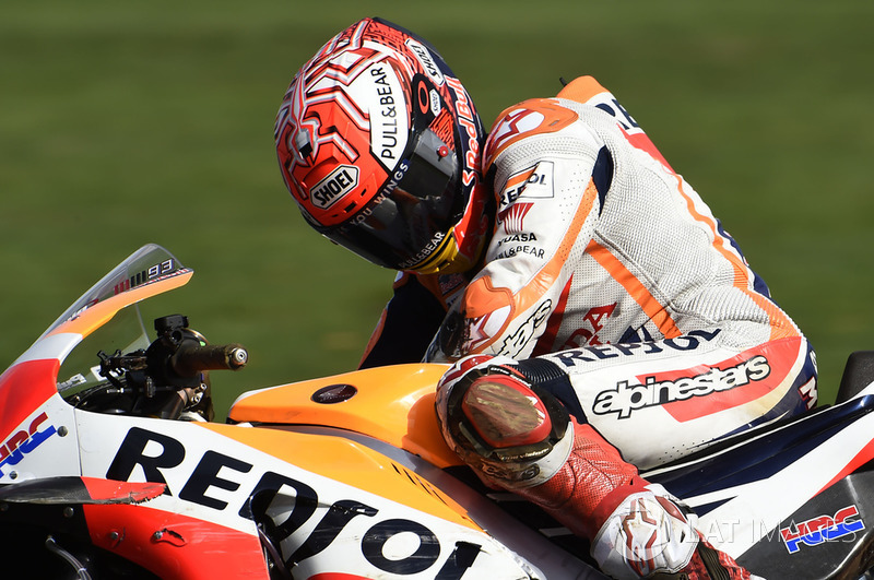 Marc Marquez, Repsol Honda Team after crash