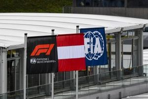 F1, FIA and Austrian flags
