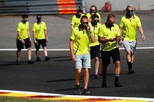 Aston Martin Racing walk the track