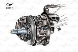 Disco de freno del Mercedes AMG F1 W11