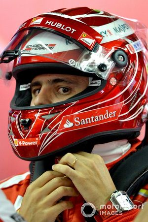 Felipe Massa, Ferrari with his special edition helmet