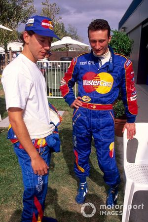 Ricardo Rosset, Mastercard Lola with his team mate Vincenzo Sospiri, Mastercard Lola