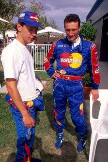 Ricardo Rosset, Mastercard Lola with his team mate Vincenzo Sospiri, Mastercard Lola