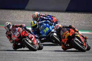 Andrea Dovizioso, Ducati Team, Pol Espargaro, Red Bull KTM Factory Racing, Joan Mir, Team Suzuki MotoGP