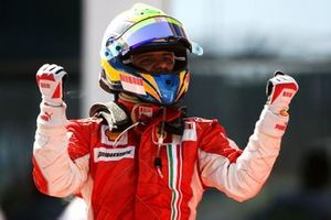 Race winner Felipe Massa, Ferrari celebrates in parc ferme