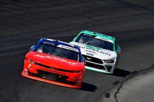 Justin Allgaier, JR Motorsports, Chevrolet Camaro BRANDT/Tracker Technologies and Austin Cindric, Team Penske, Ford Mustang MoneyLion