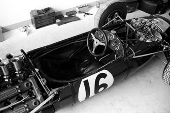 The cockpit of Dan Gurney, Brabham BT7