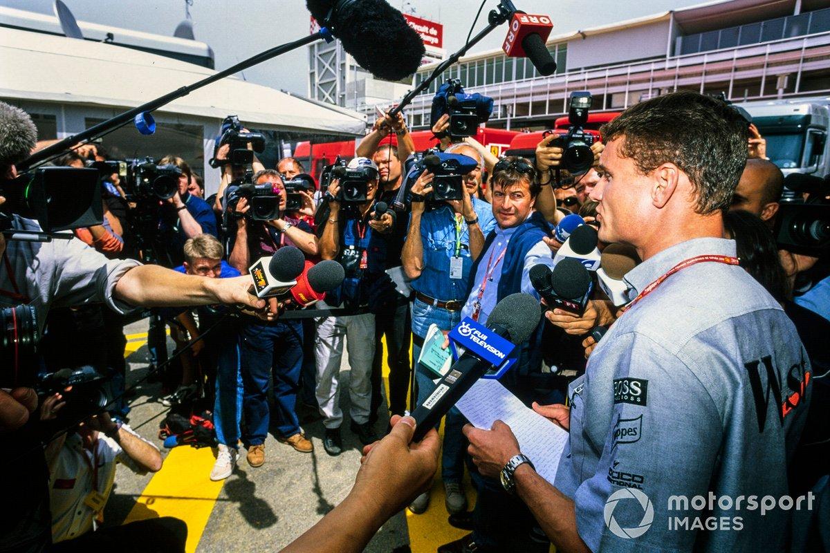 David Coulthard, McLaren speaks to the media