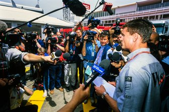 David Coulthard, McLaren speaks to the media