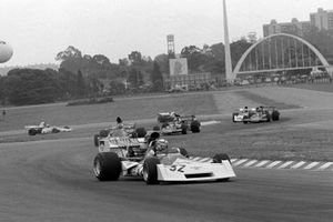 Clay Regazzoni leads Francois Cevert, Emerson Fittipaldi, Ronnie Peterson y Jean Pierre Beltoise