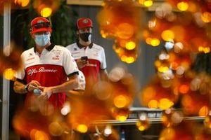 Kimi Raikkonen, Alfa Romeo, Antonio Giovinazzi, Alfa Romeo