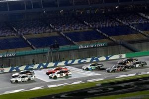 Chase Briscoe, Stewart-Haas Racing, Ford Mustang Ford Performance Racing School and Harrison Burton, Joe Gibbs Racing, Toyota Supra Dex Imaging