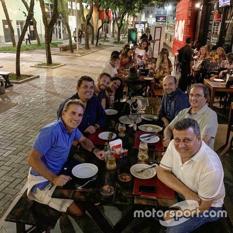 Téo José em foto com Reginaldo Leme, Felipe Giaffone e Thiago Alves