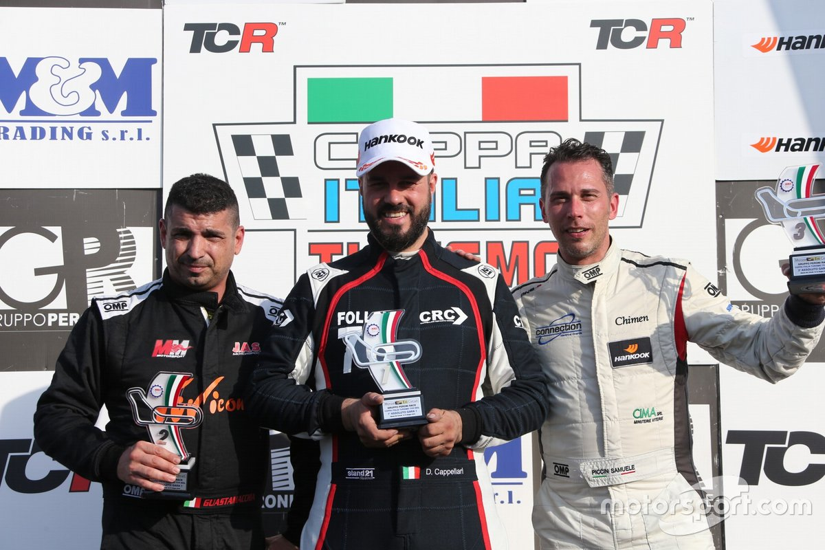 Daniele Cappellari, CRC, Volkswagen Golf GTI TCR, Mauro Guastamacchia, MM Motorsport, Honda Civic Type R TCR, Samuele Piccin, BMW