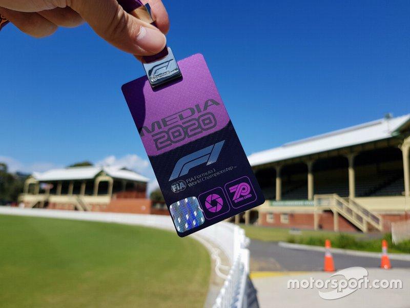 Un pass permanente dei media per la stagione di Formula 1 2020