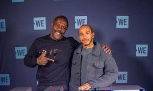 Idris Elba and Lewis Hamilton