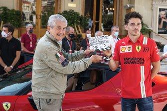 Claude Lelouch et Charles Leclerc, Ferrari