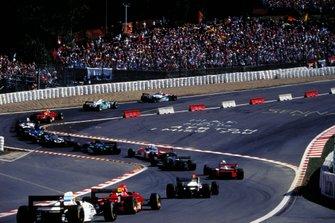 Renn-Action beim GP Belgien 1994 in Spa mit Schikane in der Eau Rouge