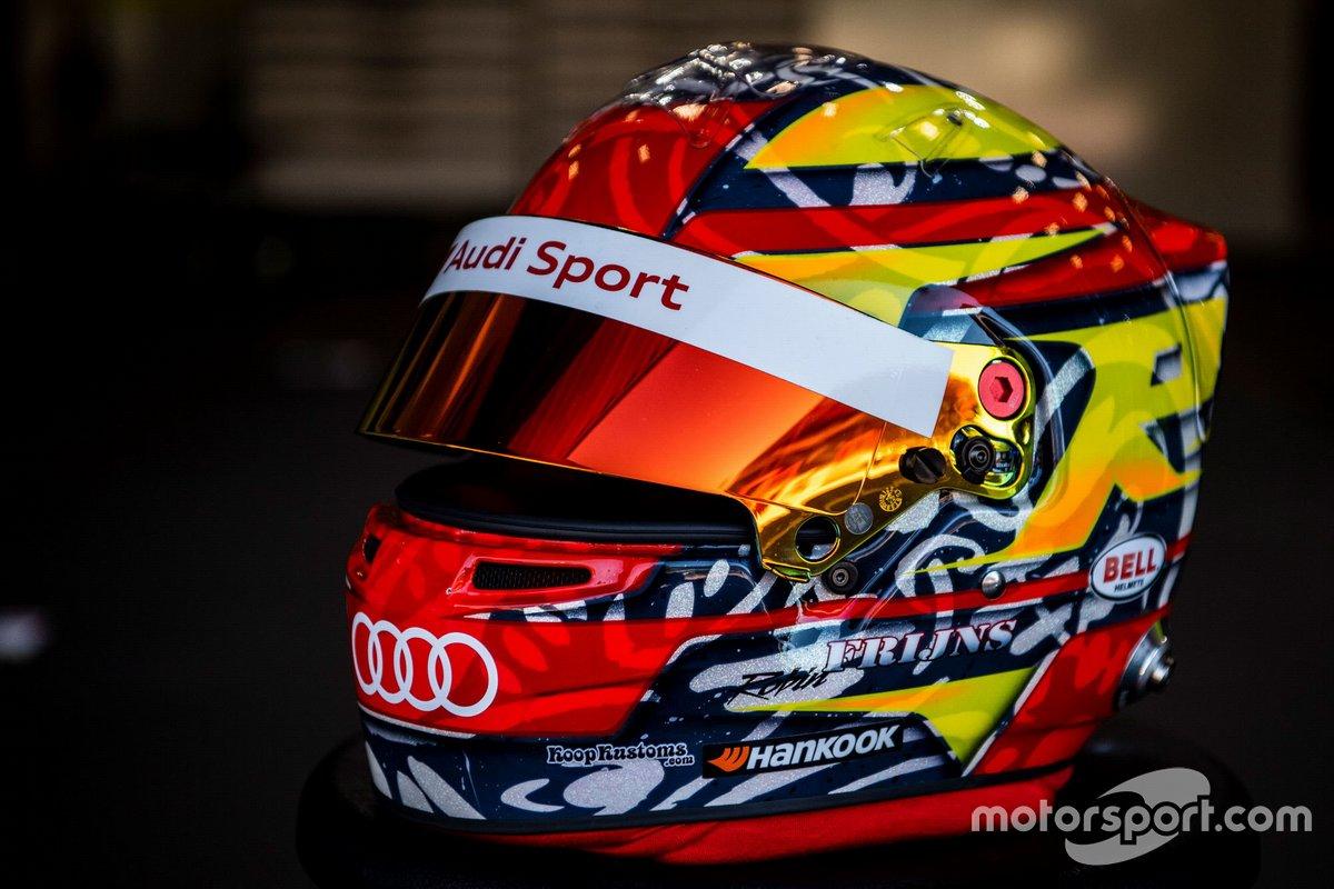 Il casco di Robin Frijns, Audi Sport Team Abt Sportsline