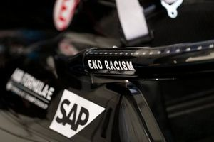 The End Racism message on the Mercedes Benz EQ, EQ Silver Arrow 01