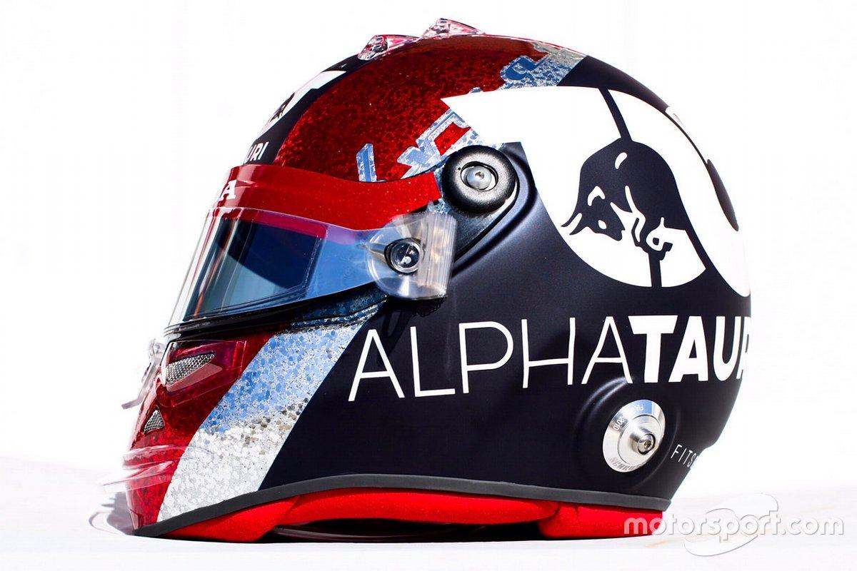Шлем Даниила Квята, AlphaTauri, в 2020 году