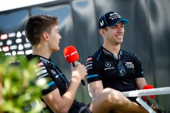 George Russell, Williams Racing, e Nicholas Latifi, Williams Racing