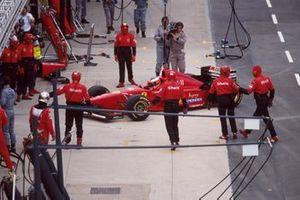 Michael Schumacher, Ferrari F310, al GP di Gran Bretagna del 1996