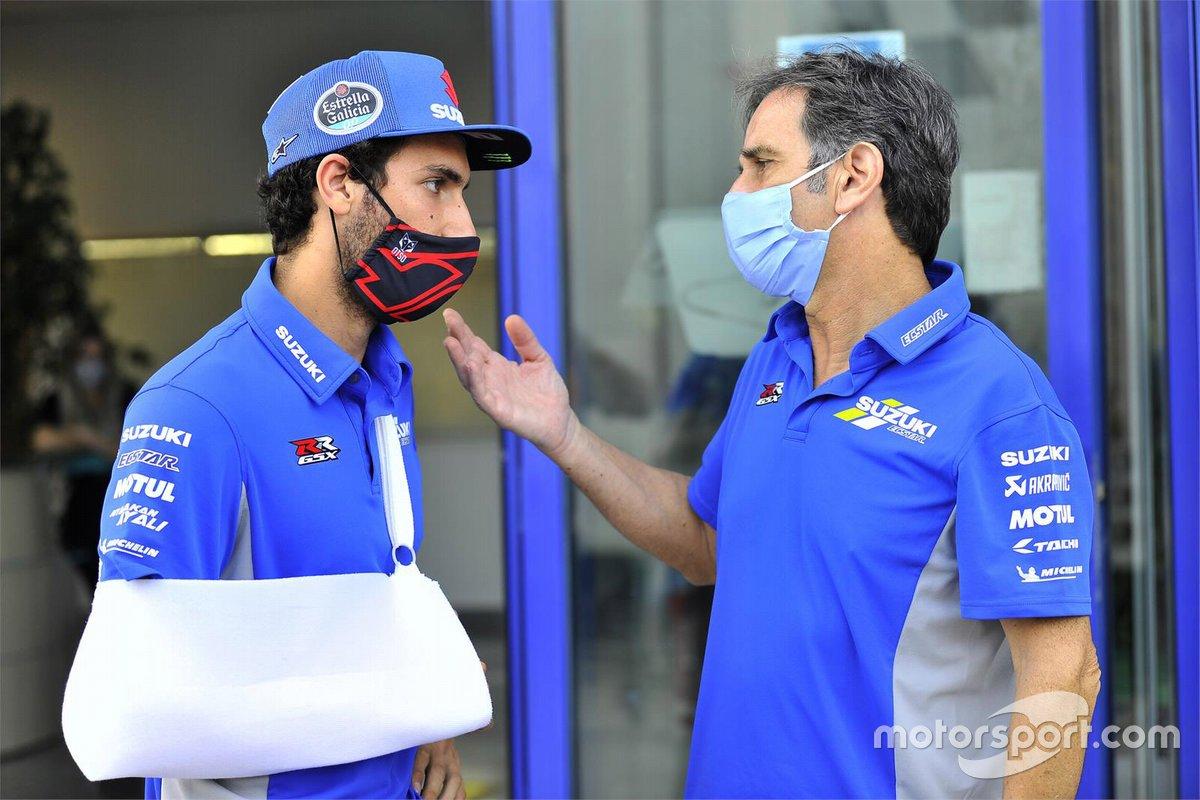 Alex Rins, Team Suzuki MotoGP, lesionado en el GP de España