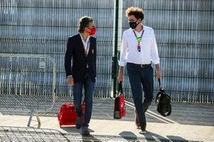 Laurent Mekies, Sporting Director, Ferrari and Mattia Binotto, Team Principal Ferrari