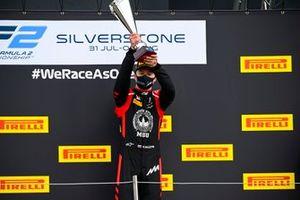 Podio: ganador de la carrera Nikita Mazepin, Hitech Grand Prix