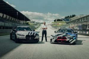 Markus Flasch, CEO of BMW M GmbH with the BMW M4 GT3 and BMW M4