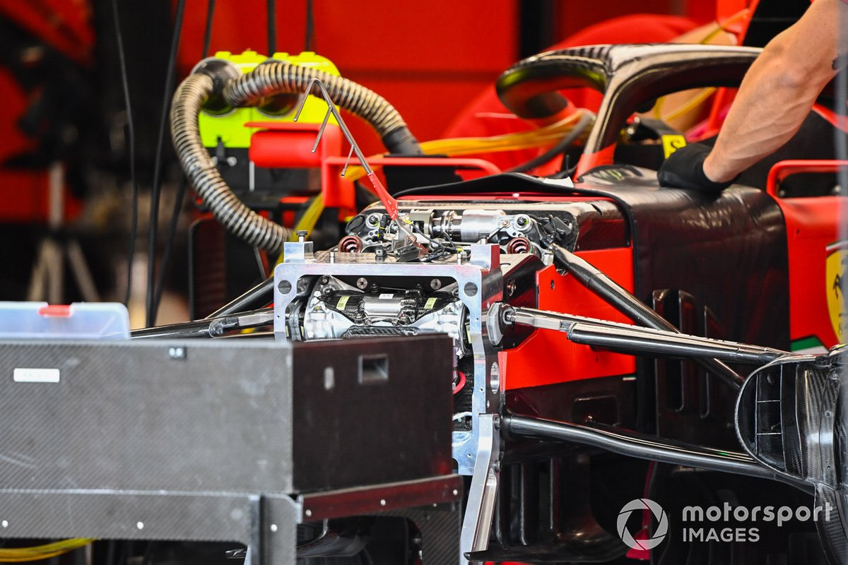 Ferrari SF1000 front suspension detail