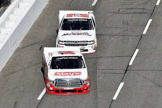 Tyler Ankrum, DGR-Crosley, Toyota Tundra May's Hawaii / CROSLEY BRANDS, Timothy Peters, GMS Racing, Chevrolet Silverado AUTOSBYNELSON.COM