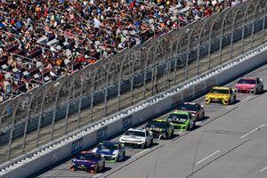 Denny Hamlin, Joe Gibbs Racing, Toyota Camry FedEx Ground and Alex Bowman, Hendrick Motorsports, Chevrolet Camaro Nationwide