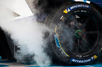 The Michelin tyre on Antonio Felix da Costa car, BMW I Andretti Motorsports, BMW iFE.18