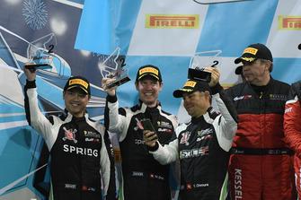 Podium: #69 Stile F Squadra Corse Ferrari 458 GT3: Martin Grab, Jonathan Hui, Dirk Diggler